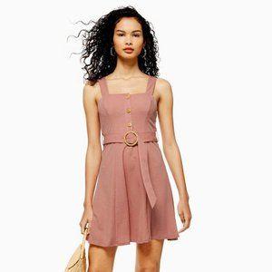 TopShop Pink Button Mini Dress